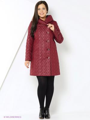 Пальто Brillare. Цвет: бордовый