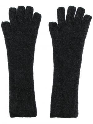 Трикотажные перчатки Isabel Benenato. Цвет: серый