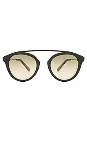 Солнцезащитные очки flower 28 WESTWARD LEANING. Цвет: черный