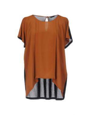 Блузка NEW YORK INDUSTRIE. Цвет: коричневый