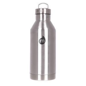 Бутылка для воды  V6 600ml Stainless W Black Print Steel Cap Mizu. Цвет: черный