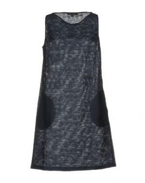 Короткое платье WALTER VOULAZ. Цвет: темно-синий