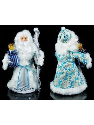 Новогодний сувенир для подарков Дед Мороз Русские подарки. Цвет: голубой, белый