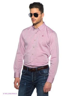 Рубашка Marville. Цвет: розовый