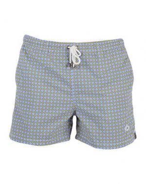 Пляжные брюки и шорты LUIGI BORRELLI NAPOLI. Цвет: лазурный