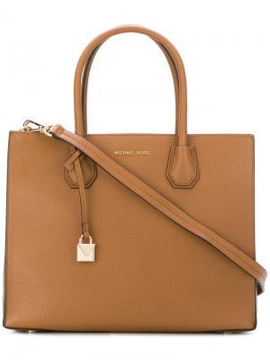 Большая сумка-тоут Mercer Michael Kors. Цвет: коричневый