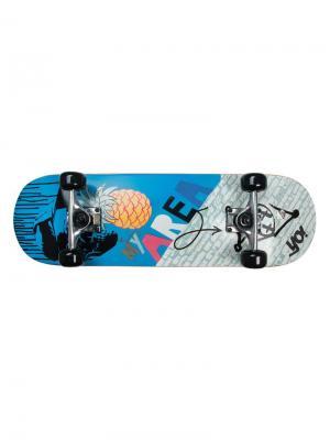 Скейтборд My Area 28 Cool Pineapple. Цвет: синий, оранжевый, серебристый