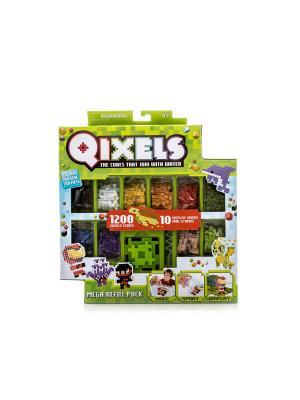 Qixels дополнительный набор кубиков. Цвет: зеленый
