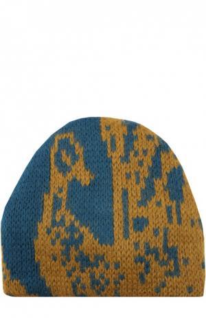 Вязаная шапка с узором Tak.Ori. Цвет: синий