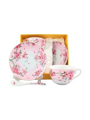 Чайная пара Сакура Elan Gallery. Цвет: розовый