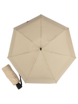 Зонт складной Eclair Latte Guy De Jean. Цвет: темно-бежевый