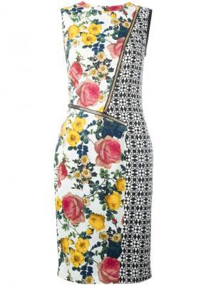 Платье с молниями и панельным дизайном Fausto Puglisi. Цвет: многоцветный