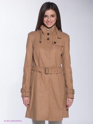 Пальто INCITY. Цвет: светло-коричневый