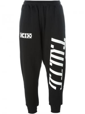 Спортивные брюки с логотипом KTZ. Цвет: чёрный