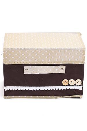 Комплект коробочек д/хранения HOMSU. Цвет: коричневый