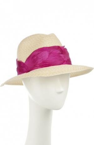 Шляпа Eugenia Kim. Цвет: светло-бежевый