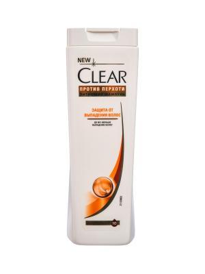 Шампунь против перхоти для женщин Защита от выпадения волос  400мл CLEAR. Цвет: белый