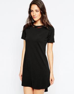 Binky Цельнокройное платье For Lipstick Boutique Belvedere. Цвет: черный
