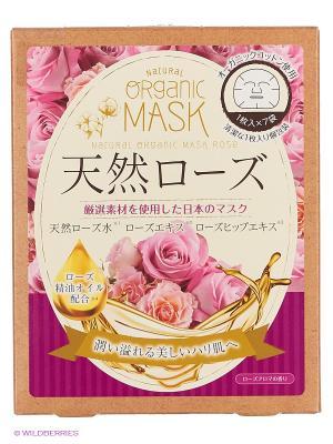 Japan Gals Маски для лица органические с экстрактом розы 7 шт. Цвет: прозрачный