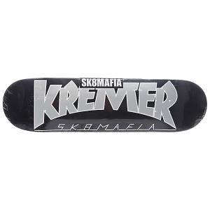 Дека для скейтборда  Kremer Soty! Black 32.12 x 8.25 (21 см) Sk8mafia. Цвет: черный,серый