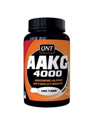 Аргинин QNT AAKG 4000 (100 таб). Цвет: белый