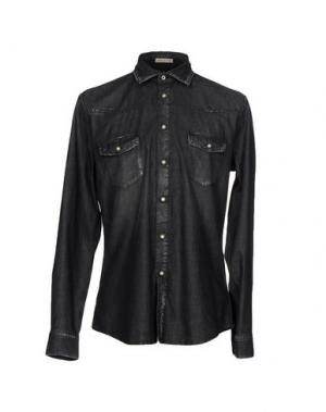 Джинсовая рубашка SIVIGLIA DENIM. Цвет: черный