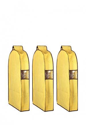 Комплект чехлов для верхней одежды 3 шт. El Casa. Цвет: желтый