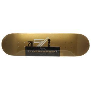 Дека для скейтборда  Og Logo Gold Deck 32 x 8.125 (20.6 см) Nomad. Цвет: желтый