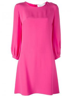 Платье шифт средней длины Gianluca Capannolo. Цвет: розовый и фиолетовый