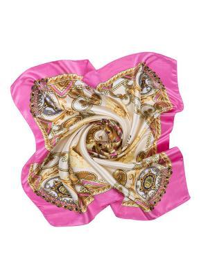 Платок Charmante. Цвет: коричневый, розовый