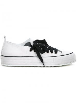 Кеды на шнуровке Ann Demeulemeester. Цвет: серый