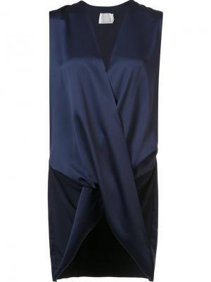 Блузка Ronnie с перекрещенным дизайном Solace. Цвет: синий