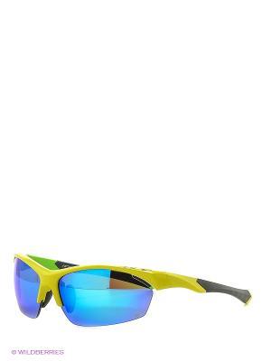 Солнцезащитные очки NRC. Цвет: желтый, зеленый