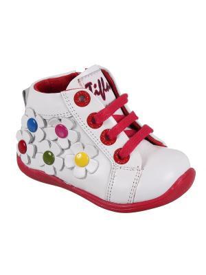 Ботинки TIFLANI. Цвет: белый, красный