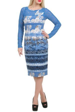 Платье Надюша LESYA. Цвет: голубой