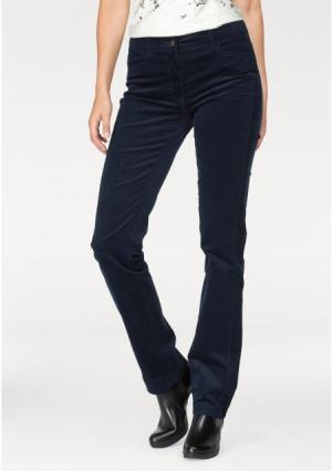 Вельветовые брюки CHEER. Цвет: темно-синий