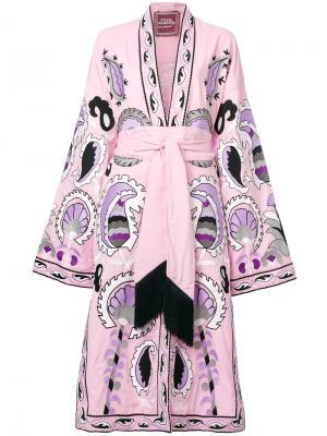 Delight embroidered dress Yuliya Magdych. Цвет: розовый и фиолетовый