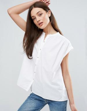 MiH Jeans Рубашка с короткими рукавами M.i.h Push. Цвет: белый