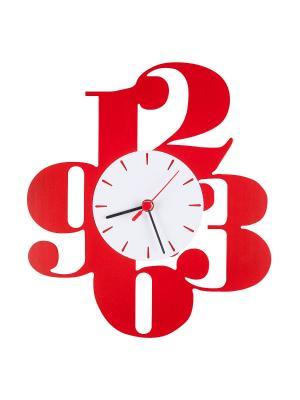Часы Красные цифры Miolla. Цвет: красный