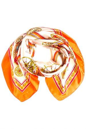 Платок Vittorio Richi. Цвет: молочный, оранжевый