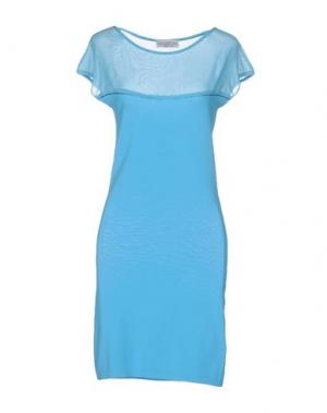 Короткое платье PASSIONI. Цвет: лазурный