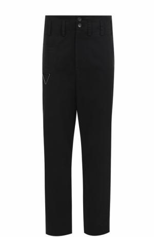 Хлопковые брюки прямого кроя Damir Doma. Цвет: черный