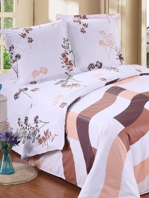 Постельное белье Amore Mio. Цвет: светло-коричневый, белый, темно-коричневый
