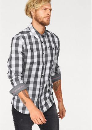 Рубашка JOHN DEVIN. Цвет: черный/белый/в клетку