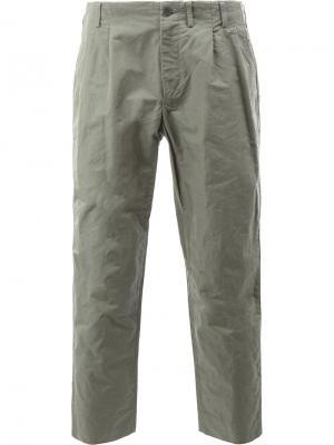 Укороченные брюки 08Sircus. Цвет: серый