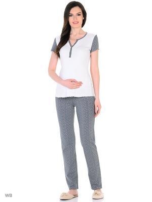Комплект для беременных и кормящих ФЭСТ. Цвет: белый, розовый, серый