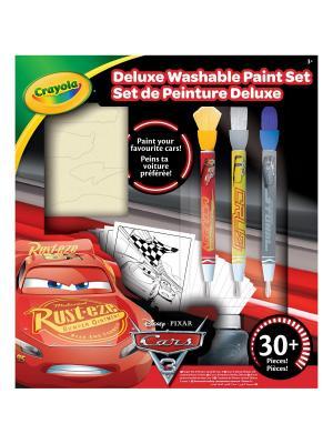 Набор со смываемыми красками Тачки 3 Делюкс Crayola. Цвет: красный