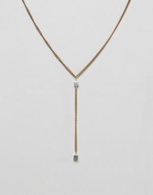 Made 2-цветное ожерелье с подвеской. Цвет: золотой
