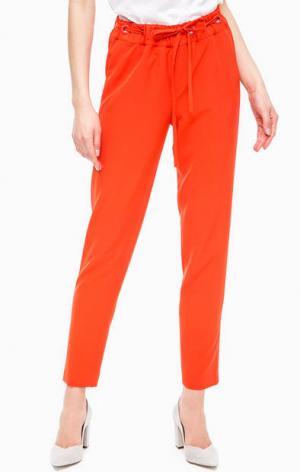 Зауженные брюки оранжевого цвета Kocca. Цвет: оранжевый