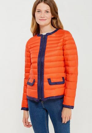 Пуховик United Colors of Benetton. Цвет: оранжевый
